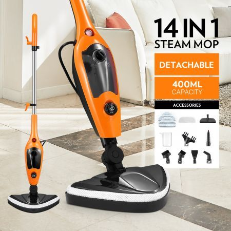 14-in-1 Steam Mop Handheld Steamer with Accessories
