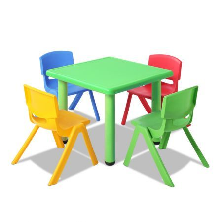 Keezi Kids Table and Chairs Set Study Desk Children Furniture Plastic