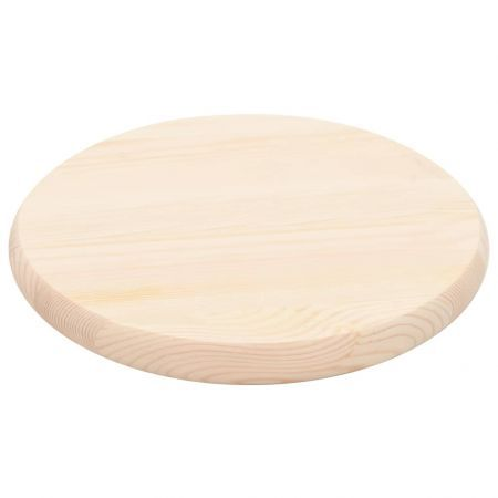 Table Top Natural Pinewood Round 28 mm 30 cm