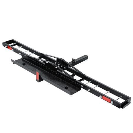 "Giantz Motorcycle Carrier Hauler 2"" Hitch Mount Rack Ramp Anti Tilt Tow Bar"