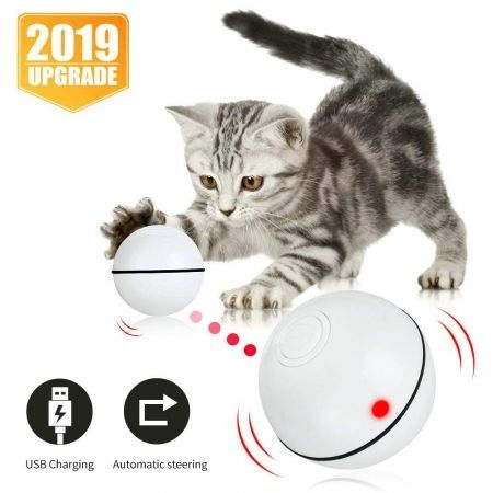 Interactive Cat Toys Ball, Smart Automatic Rolling Kitten Toys