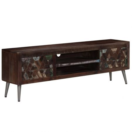 TV Cabinet Solid Reclaimed Wood 140x30x45 cm