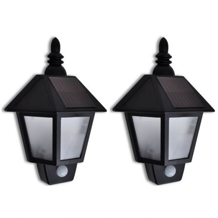 Solar Wall Lamp with Motion Sensor 2 pcs