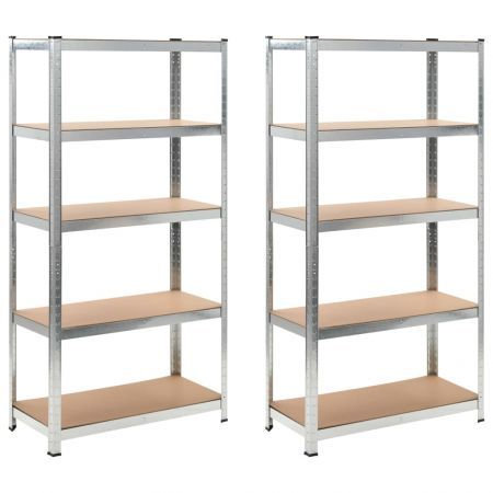 Storage Shelf Silver 2 pcs