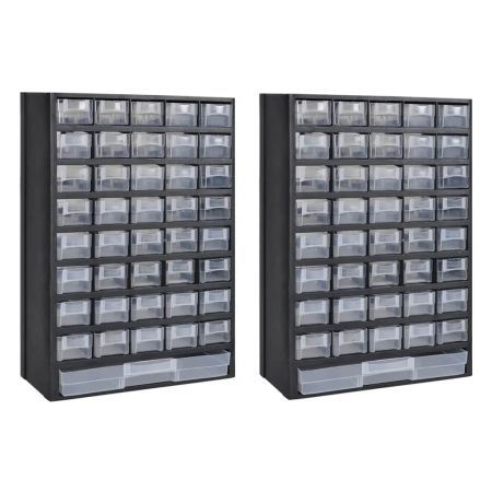 41-Drawer Storage Cabinet Tool Box 2 pcs Plastic