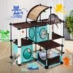 Petscene Cat Condo Cat Tree Tower Feline House Kit with Cat Scratching Posts
