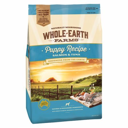 Puppy Dry Dog Food Whole Earth Farms  Salmon Tuna 15Kg