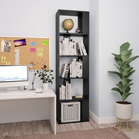 Book Cabinet/Room Divider Black 45x24x159 cm Chipboard