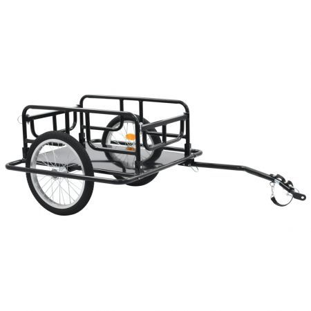 Bike Cargo Trailer 130x73x48.5 cm Steel Black