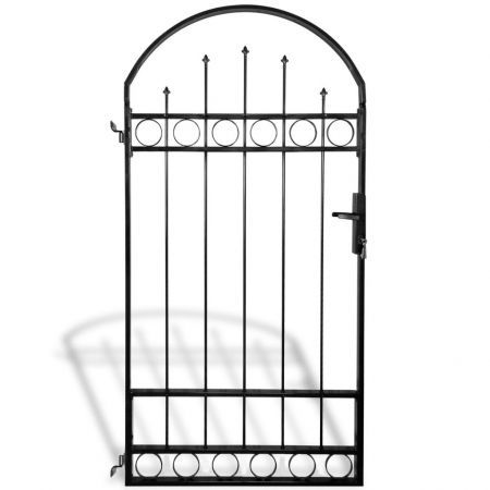 Fence Gate with Arched Top 100x200 cm