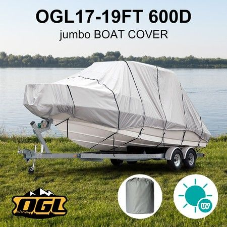 OGL 17-19 ft Trailerable Jumbo Boat Cover Waterproof Marine Grade Fabric