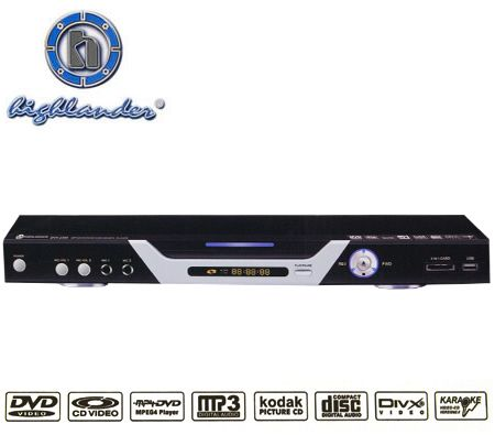 Highlander DVX-2398 5.1 Channel DVD Player with Karaoke Function, USB & 3-in-1 Card Reader