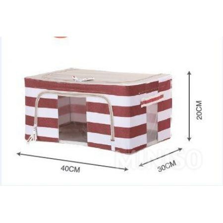 Stripe Series- 24L Storage Box (Red)
