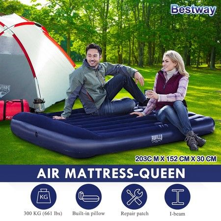 2.03m x 1.52m x 30cm Tritech Airbed Blow Up Mattresses Queen