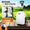 16L Wheel Backpack Pump Sprayer for Garden Lawn Weed Pest Control Fertilizer White