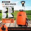 Garden Sprayer on Wheels 16L 12V Electric Weed Sprayer Farm Pump Spraying Orange