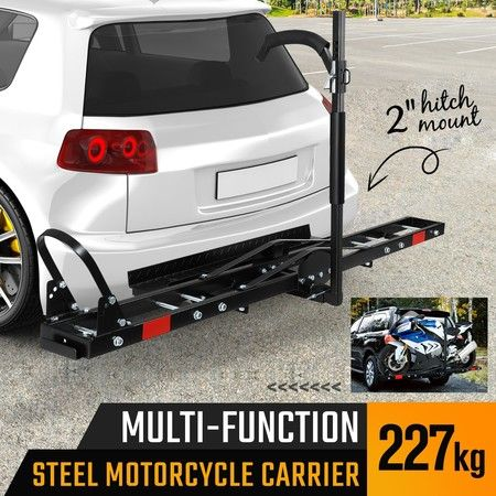Rear Mounted Motorcycle Bike Carrier Rack for Car with Padded Hook Arm