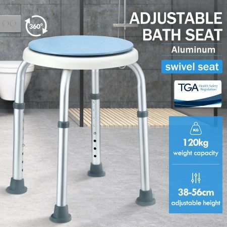 Swivel Shower Chair Seat Adjustable Bath Stool Bench