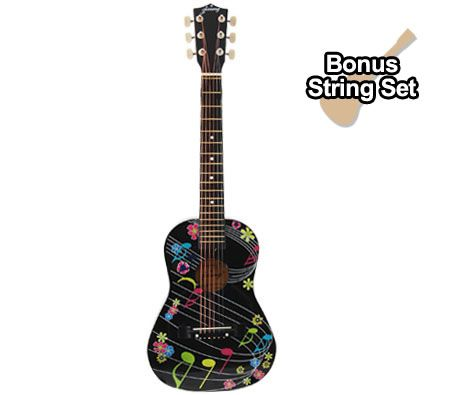 Kids Acoustic Guitar (76.5cm)/w Bonus String Set, Bag+Shoulder Strap+Picks - Musical Note Design