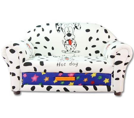Multi-Function 2 Seater Patterned Cloth Children Sofa with Drawer