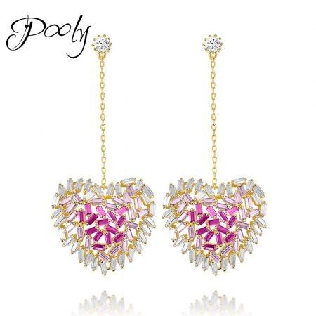 Poly  AAACubic Zirconia Statement Earrings