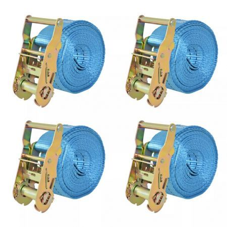 Ratchet Tie Down Straps 4 pcs 2 Tonnes 6mx38mm Blue
