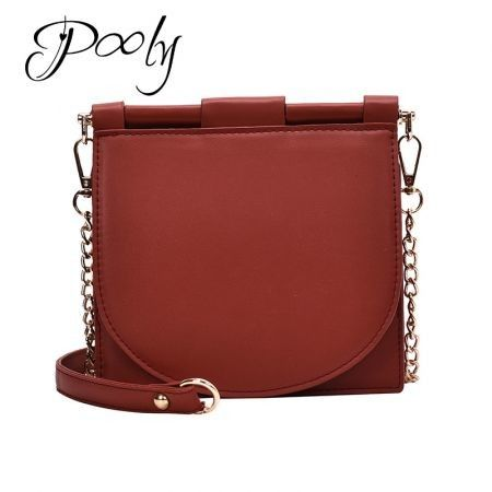 Poly PU leather Chian Cross body Women's handbag
