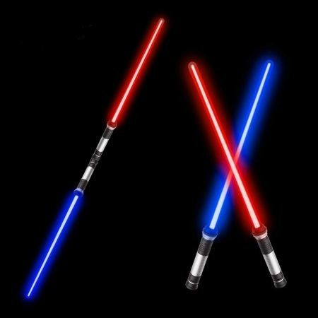 Laser Sword'S for Kids, Double Bladed Light Saber Toy with Sounds (Motion Sensitive) – 7 Colors - 26inch – Perfect for Party(2 Pack)