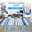 2x3m Large Soft Short Pile Floor Rug Multi Striped Area Rug Carpet Floor Mat Living Area