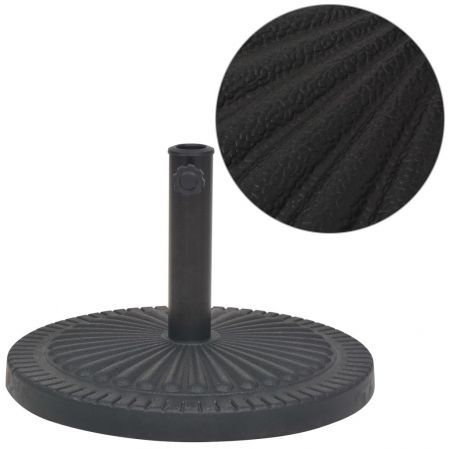 Parasol Base Resin Round Black 14 kg