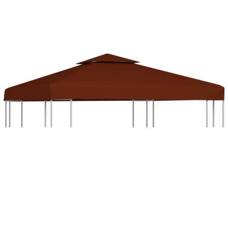 2-Tier Gazebo Top Cover 310 g/m² 3x3 m Terracotta