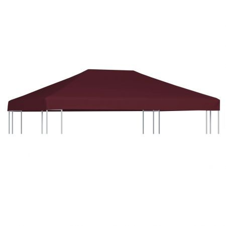 Gazebo Top Cover 310 g/m² 3x4 m Bordeaux