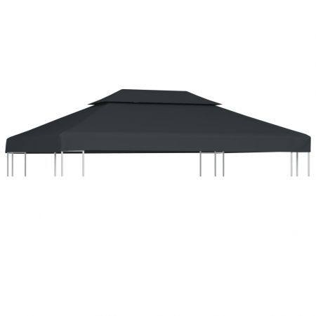 2-Tier Gazebo Top Cover 310 g/m? 4x3 m Anthracite