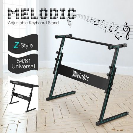 Melodic Z Style Keyboard Stand for 54/61 Keys Keyboard Piano Height Adjustable Holder