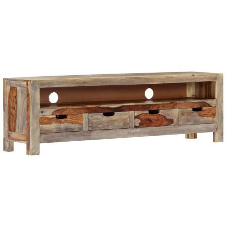 TV Cabinet Solid Sheesham Wood 130x30x40 cm
