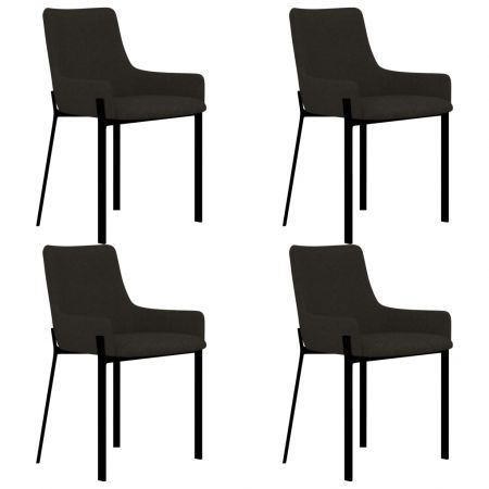 Dining Chairs 4 pcs Taupe Fabric
