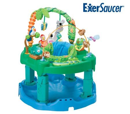 evenflo exersaucer triple fun active learning baby activity center jungle crazy sales. Black Bedroom Furniture Sets. Home Design Ideas