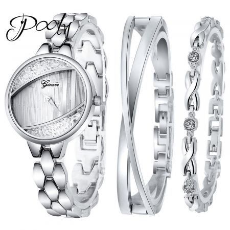 Poly  luxury bracelet watch set