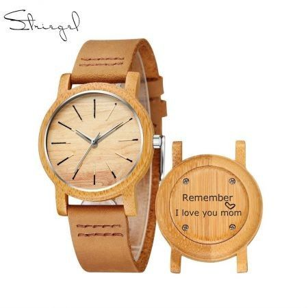 Striegel Design Your Own   Engraved Wooden Watch