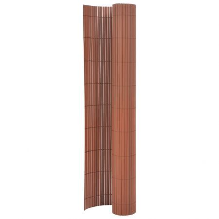 Double-Sided Garden Fence 170x300 cm Brown