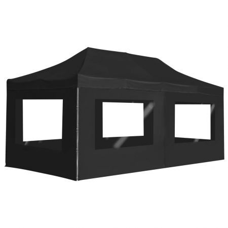 Professional Folding Party Tent with Walls Aluminium 6x3 m Anthracite
