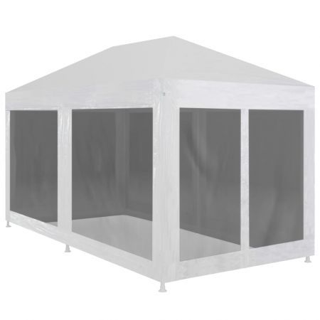 Party Tent with 6 Mesh Sidewalls 6x3 m