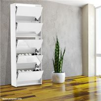 Delicieux 25 Pairs Mirrored Shoe Storage Cabinet