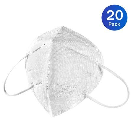 20 Pack KN95 Face Mask Filter Particulate Bacteria Virus Disposable Dust Mask
