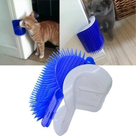 Cat Dog Self Groomer Brush Wall Corner
