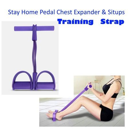 Training Leg Pull Up Bodybuilding Slimming Exerciser/Multi-Function Adjustable 4 Resistance Latex Bands Workout Sit-up Pulling Strap Rope