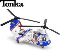 Tonka Mighty Motorized Transport Police Helicopter - Blue
