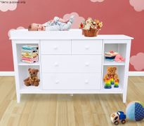 Good Baby Changing Table Cabinet With Drawers   White