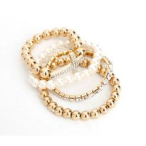 Easter gifts cheap easter gifts australia online for sale fashion cross rhinestone artificial pearl bracelet set negle Gallery