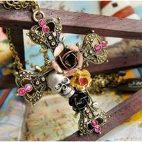 Easter gifts cheap easter gifts australia online for sale retro cross skull head necklace negle Gallery